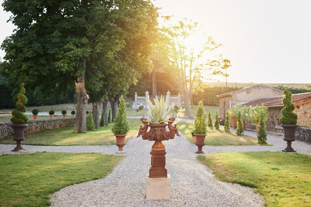 jardin à la française chateau Chavagnac