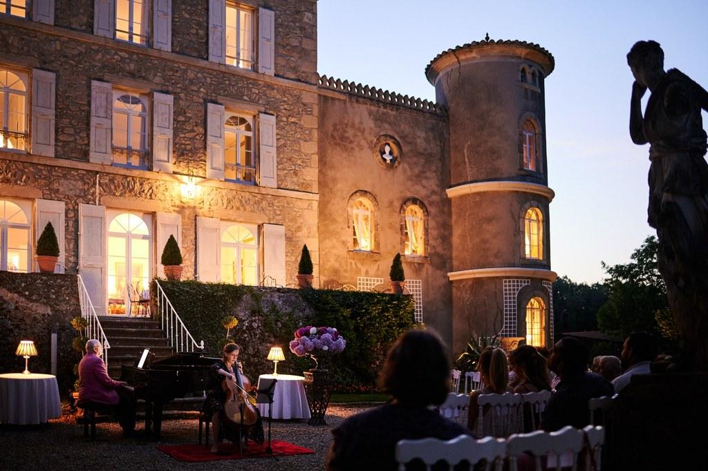 soirée musicale au chateau Chavagnac