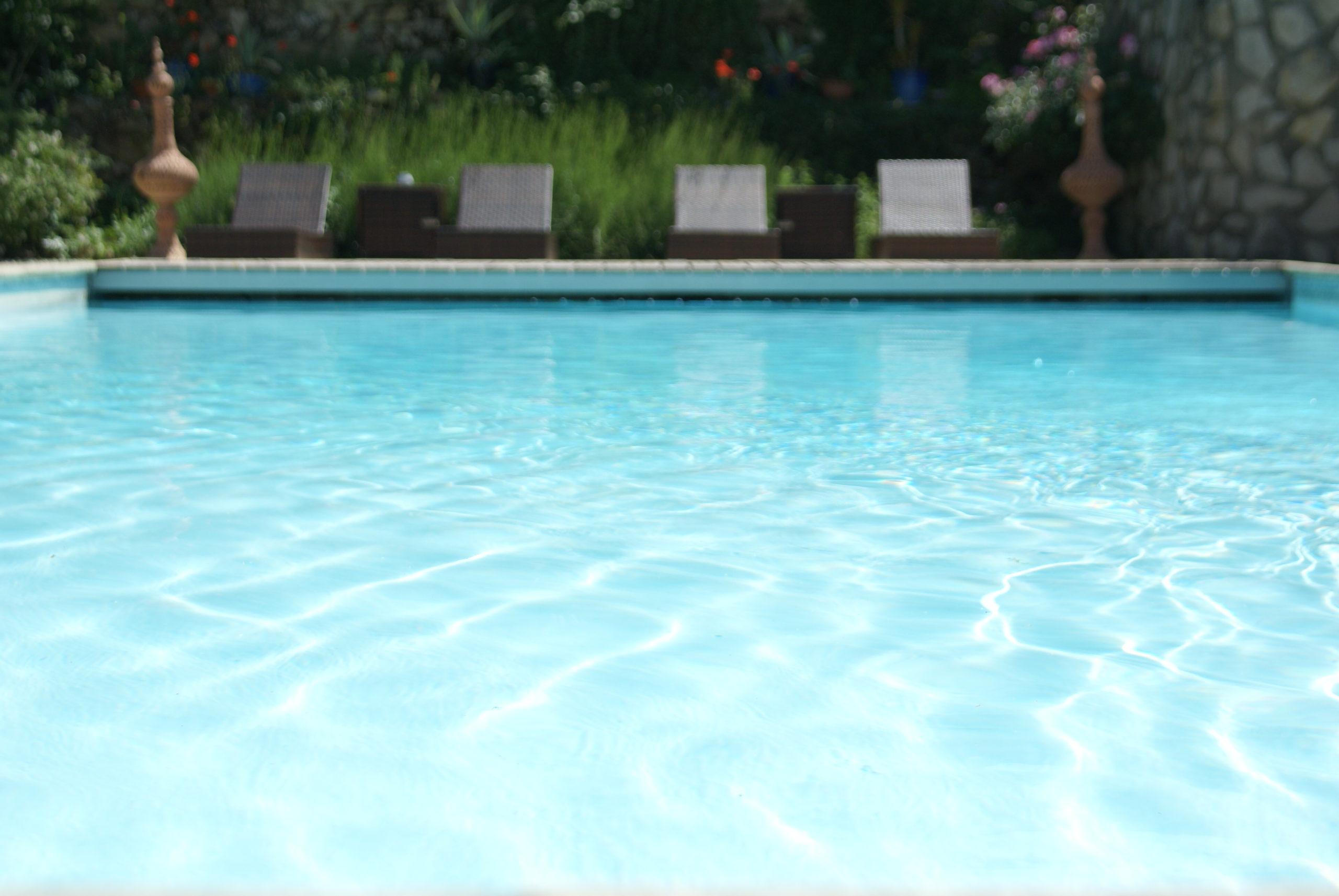 un plongeon dans la piscine