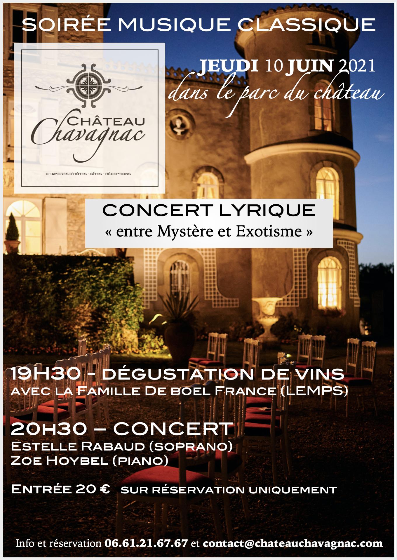 concert au chateau Chavagnac