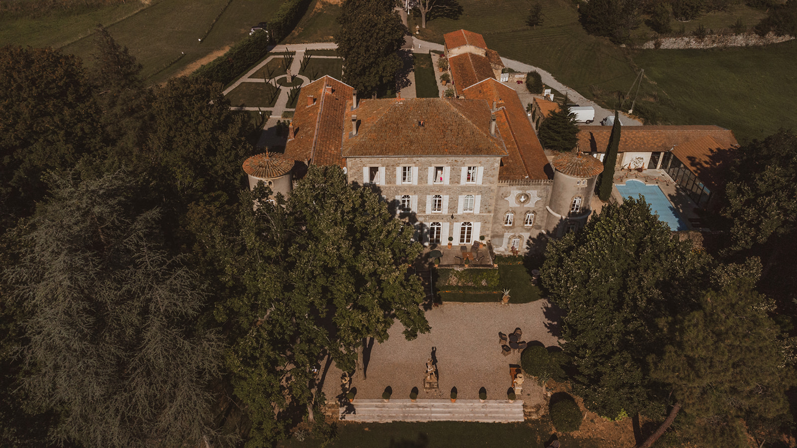chateau Chavagnac vu du ciel